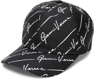 Versace Signature-Print Baseball Cap