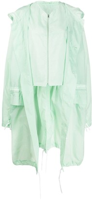 Colville Long Button Up Drawstring Raincoat