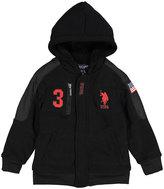 U.S. Polo Assn. Black & Red '3' Sherpa-Lined Fleece Hoodie - Boys