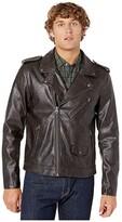 Levi's Faux Leather Moto (Antique Brown) Men's Clothing