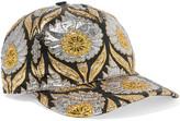 Gucci Berta Metallic Jacquard Cap - Gold