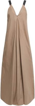Brunello Cucinelli Bead-embellished Cotton-poplin Maxi Dress