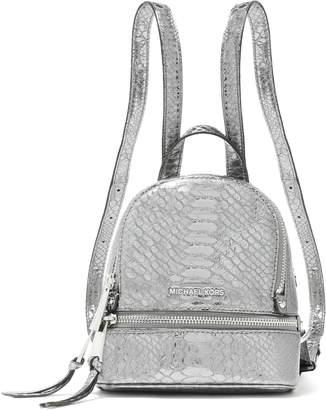 MICHAEL Michael Kors Metallic Snake-effect Leather Backpack