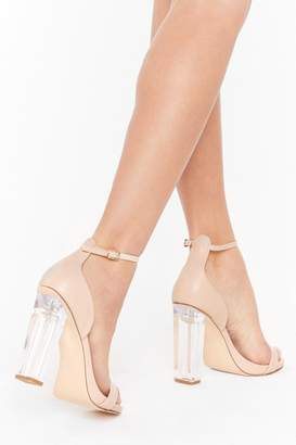 Nasty Gal Womens See Through Their Lies Wide Fit Transparent Heels - Beige - 3
