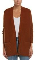 Vince Rib-trim Wool & Cashmere-blend Cardigan.