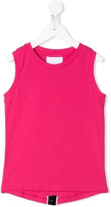 Gaelle Paris Kids glitter stripe sleeveless T-shirt