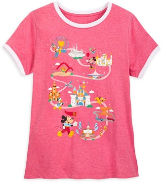 Disney Mickey Mouse and Friends Ringer T-Shirt for Women Disneyland