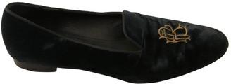 Ralph Lauren Green Velvet Flats