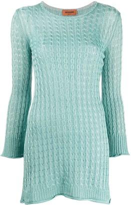 Missoni Cable Knit Mini Dress