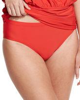 Athena Cabana Solids Landa Mid-Rise Hipster Swim Bottom, Black