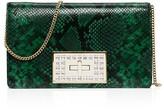 MICHAEL Michael Kors Ellie Medium Python-Embossed Shoulder Bag