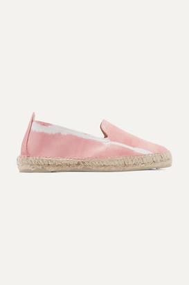 Manebi Tie-dyed Leather Espadrilles - Baby pink