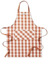 Williams-Sonoma Williams Sonoma Checkered Adult Apron, Pumpkin Orange