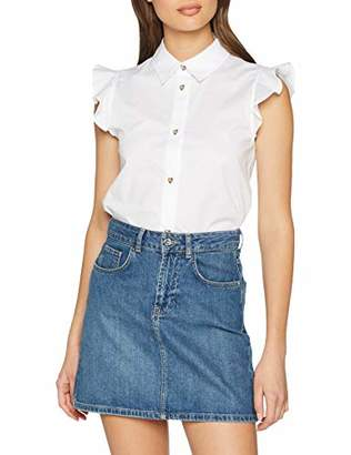 Love Moschino Women's Heart Shaped Buttons_Sleeveless Blouse,14 (Size: )