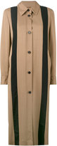Aalto striped long coat - women - Viscose/Virgin Wool - 38