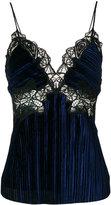 Jonathan Simkhai lace inserts top - women - Silk/Polyester/Spandex/Elastane/Rayon - 4