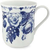 French Blue Bouquet Mugs, Set of 4