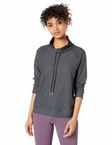 Andrew Marc Women's Plus Size Jacquard Mesh Funnel Neck Pullover