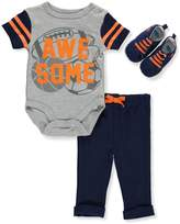 Bon Bebe Baby Boys' 3-Piece Outfit - gray multi