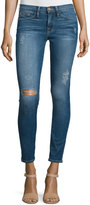 Frame Le Skinny De Jeanne Distressed Ankle Jeans, Jewell
