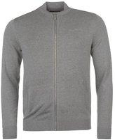 Pierre Cardin Mens 100% Cotton Full Zip Ribbed Collar Bomber Knitwear Cardigan (, 2XL)