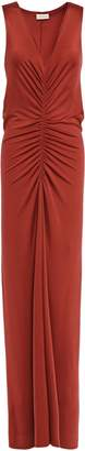 By Malene Birger Ruched Stretch-jersey Maxi Dress