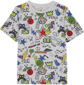 Stella McCartney Arrow stickers print cotton t-shirt 4-14 years