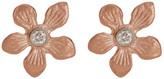 Meira T 14K Rose Gold Diamond Floral Stud Earrings - 0.04 ctw