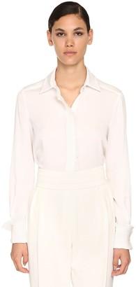 Max Mara Fringed Silk Crepe Shirt