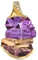 H.Stern 18K Amertine & Diamond Pendant