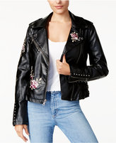 GUESS Embroidered Moto Jacket
