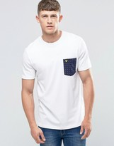 Lyle & Scott T-Shirt With Square Dot Pocket In White