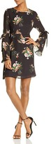 June & Hudson Floral Bell-Sleeve Dress - 100% Exclusive
