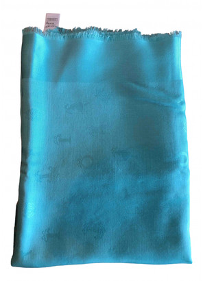 Christian Dior Turquoise Silk Scarves
