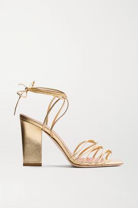 AEYDĒ Daisy Leather Sandals - Gold