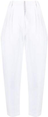 Erika Cavallini High-Rise Box-Pleat Cropped Trousers