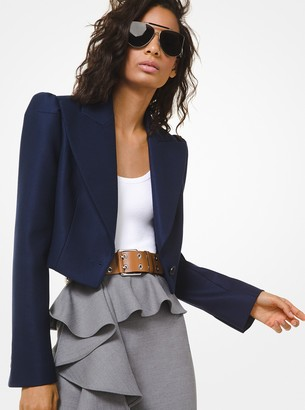 Michael Kors Collection Stretch Wool Duvetyne Spencer Jacket