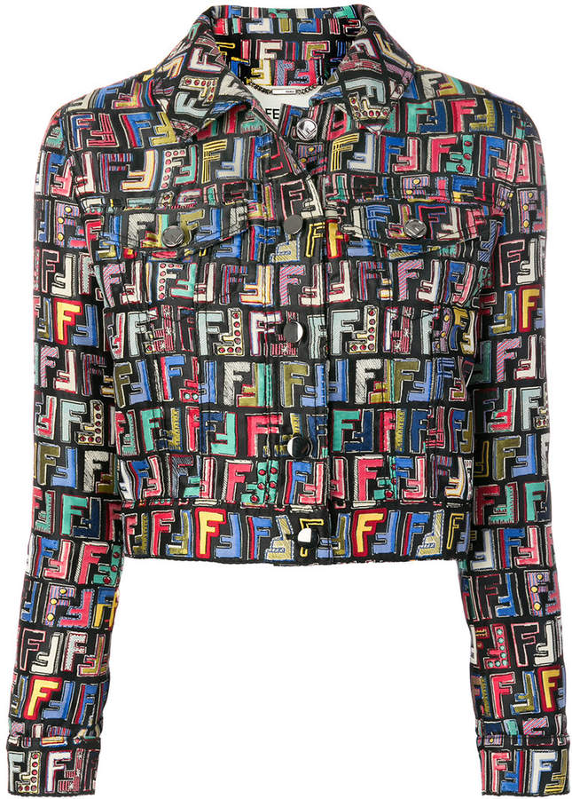 Fendi FF logo printed jacket