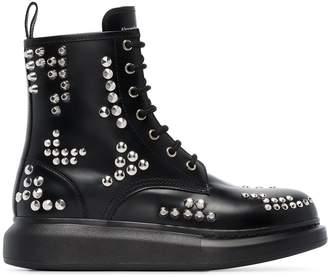 Alexander McQueen studded lace-up platform boots