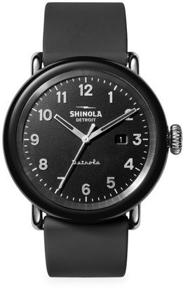 Shinola Detrola The Model D Stainless Steel & Silicone Strap Watch