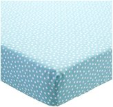 CoCalo Fitted Crib Sheet - Aqua Dottie