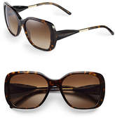 Burberry 56mm Gabardine Square Sunglasses