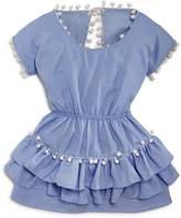 Peixoto Piexoto Girls' Ruffled Pom-Pom Dress
