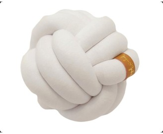 Juju & Jake Mini Knot Pillow - White