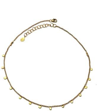 Yvonne Henderson Jewellery Tiny Dot Gold Disc Choker Necklace