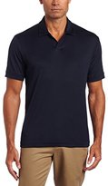 Perry Ellis Men's Short-Sleeve Cotton-Blend Open Polo Shirt