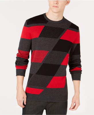 Alfani Men Abstract Colorblocked Sweater