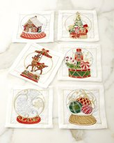 Kim Seybert Snow Globe Cocktail Napkins, Set of 6