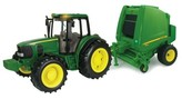 John Deere Tractor and Baler 1:16 Scale