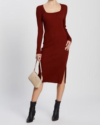 Forcast Genie Square Neck Knit Dress